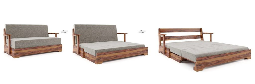 Mahim Wooden Folding Sofa Cum Bed from Urban Ladder