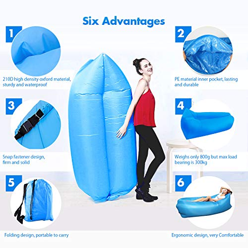 Vmoni Inflatable Air Sofa for Outdoor Camping and Beach